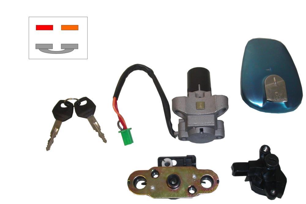Ignition Switch Lock Set Suzuki EN125 2 Wire + Grey Looped. Essex ...