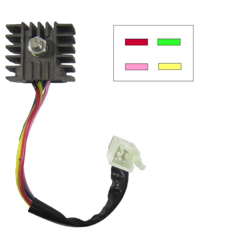 rectifier honda 4 wire type ideal replacement for c90 essex rh essexmotorcycles co uk Chinese Cdi Wiring 4 wire regulator rectifier wiring diagram