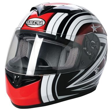 Picture of Road Helmet Ultra Starburst Black/Red Large 59/60