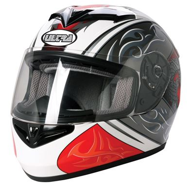 Picture of Road Helmet Ultra Cosmos White/Red Extra Small 54