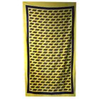 Picture of Beach Towel Rossi 46 Black Small 46 Repeat