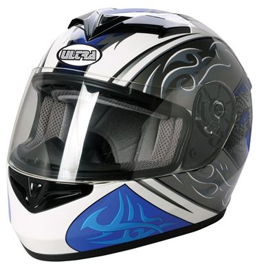Picture of Road Helmet Ultra Cosmos White/Blue Medium 57/58