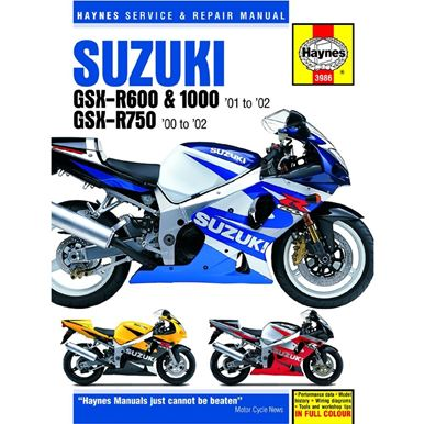 Picture of Haynes Manual  3986 SUZ GSX-R600,750,1000 K1-K3 00 & T1142401-03