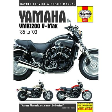 Picture of Haynes Manual  4072 YAM V-MAX 85-03-S/Order