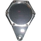 Picture of Tax Disc Holder Hexagon Carbon Look 6 Studs Silver Rim