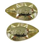 Picture of Tank Badges Gold Pear Shape as fitted to BSA B25/A65 (Pair)