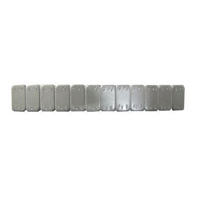 Picture of Tyre Weight Stick-on 5 grams in strips of 12 (10 Strips (Pack)