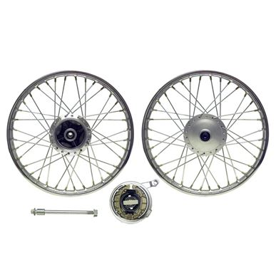 Picture of Front Wheel CG125 style drum with brake plate (Rim 1.40 x 18